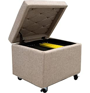 Delightful Cam Living Pembroke File Storage Ottoman With Wheels (20 Nice Ideas