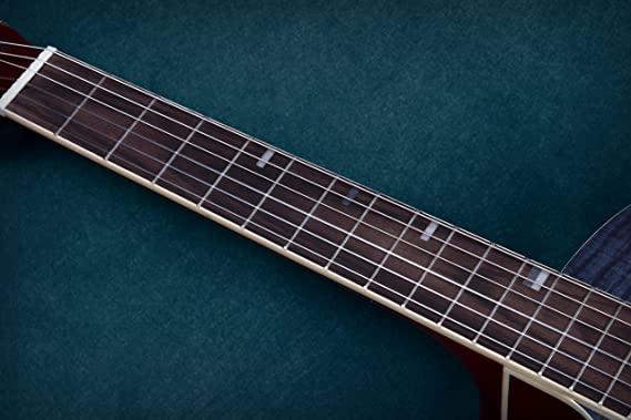 Lindo para zurdos 960 CEQ Picasso azul clásica - guitarra electroacústica (abeto Natural incluye funda: Amazon.es: Instrumentos musicales