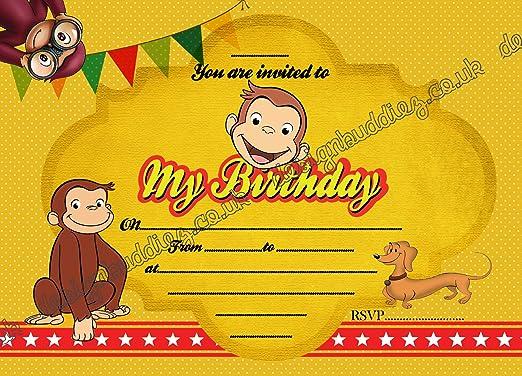 10 X Paquete De Jorge El Curioso Mono Fiesta De Cumpleaños