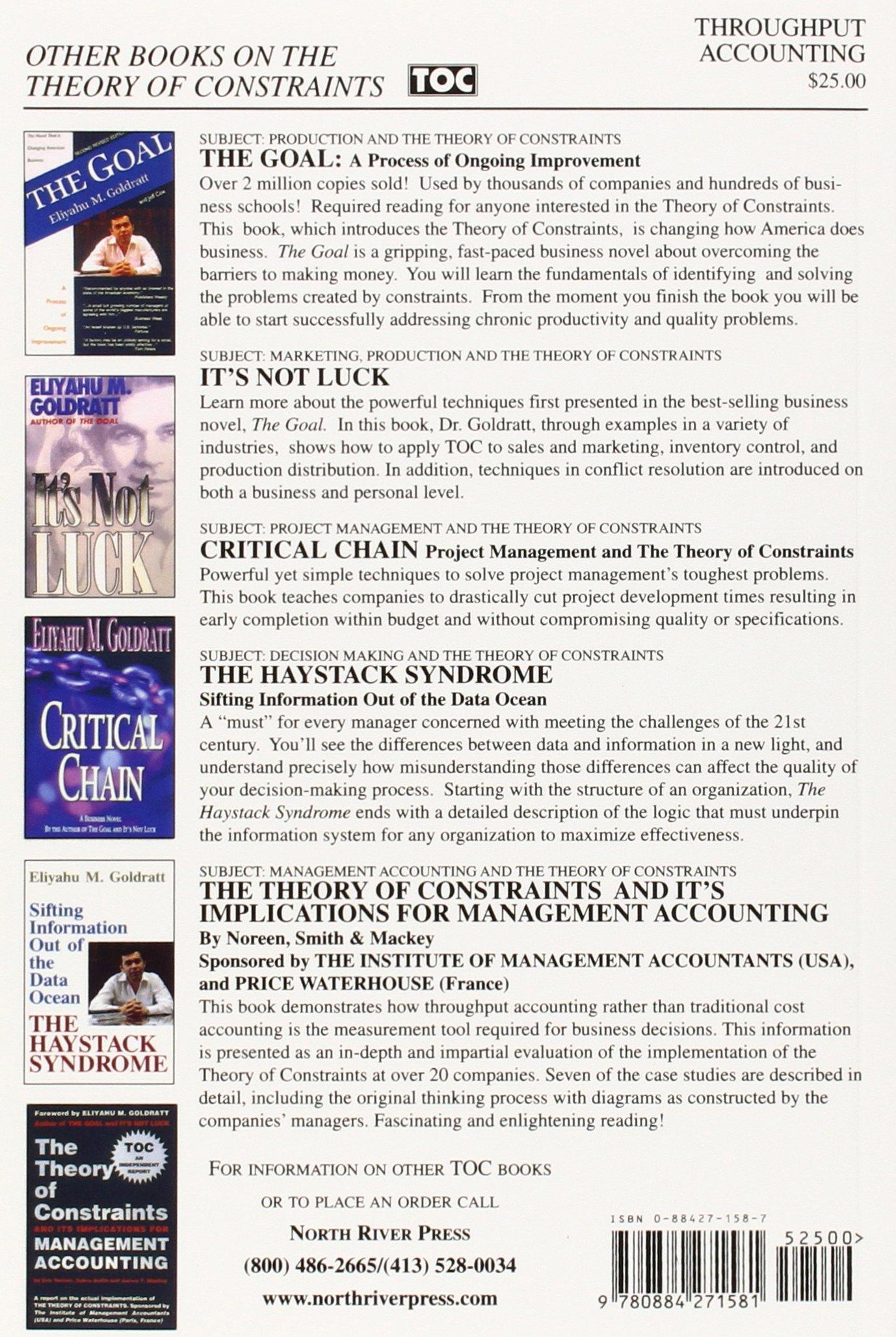 Throughput Accounting: Thomas Corbett: 9780884271581: Amazon: Books
