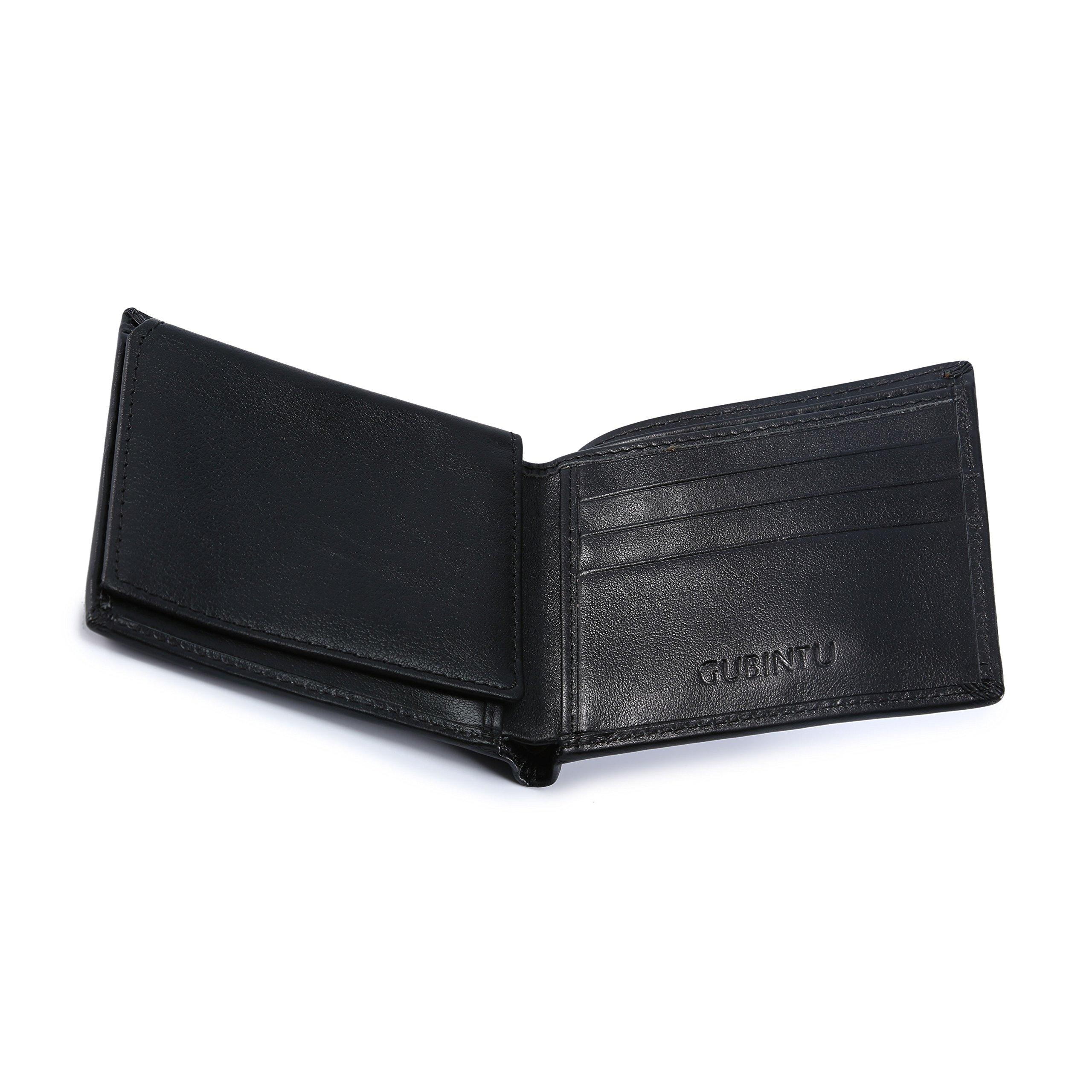 BAIGIO Slim RFID Blocking Leather Card Case Wallet Bifold Money Clip