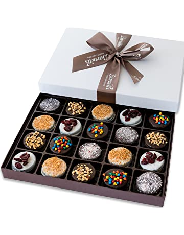 Barnetts Holiday Gift Basket - Elegant Chocolate Covered Sandwich Cookies Gift Box - Unique Gourmet Food