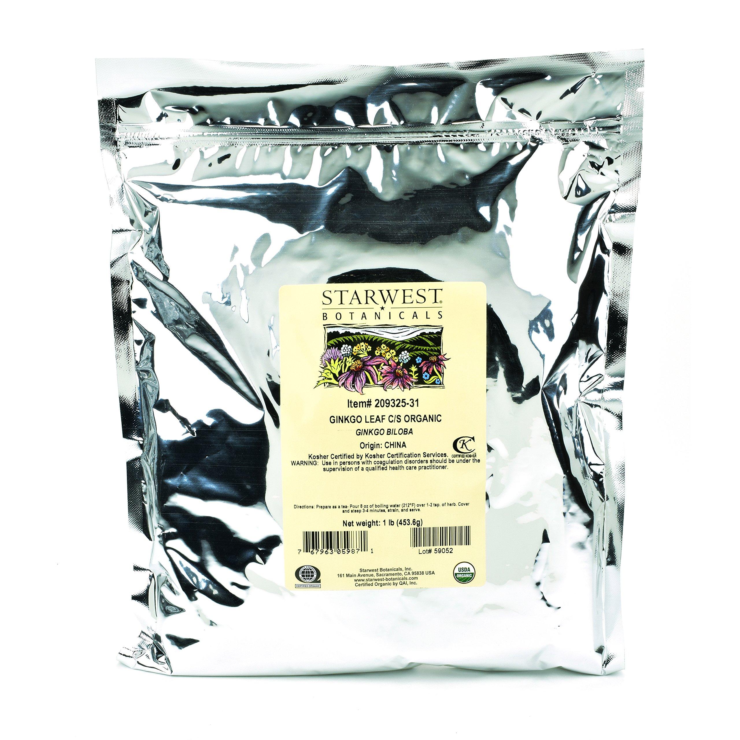 Starwest Botanicals Organic Ginkgo Leaf C/S, 1 Pound