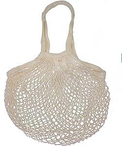 EuroSac Natural Cotton String Bag (1, Long Handle)