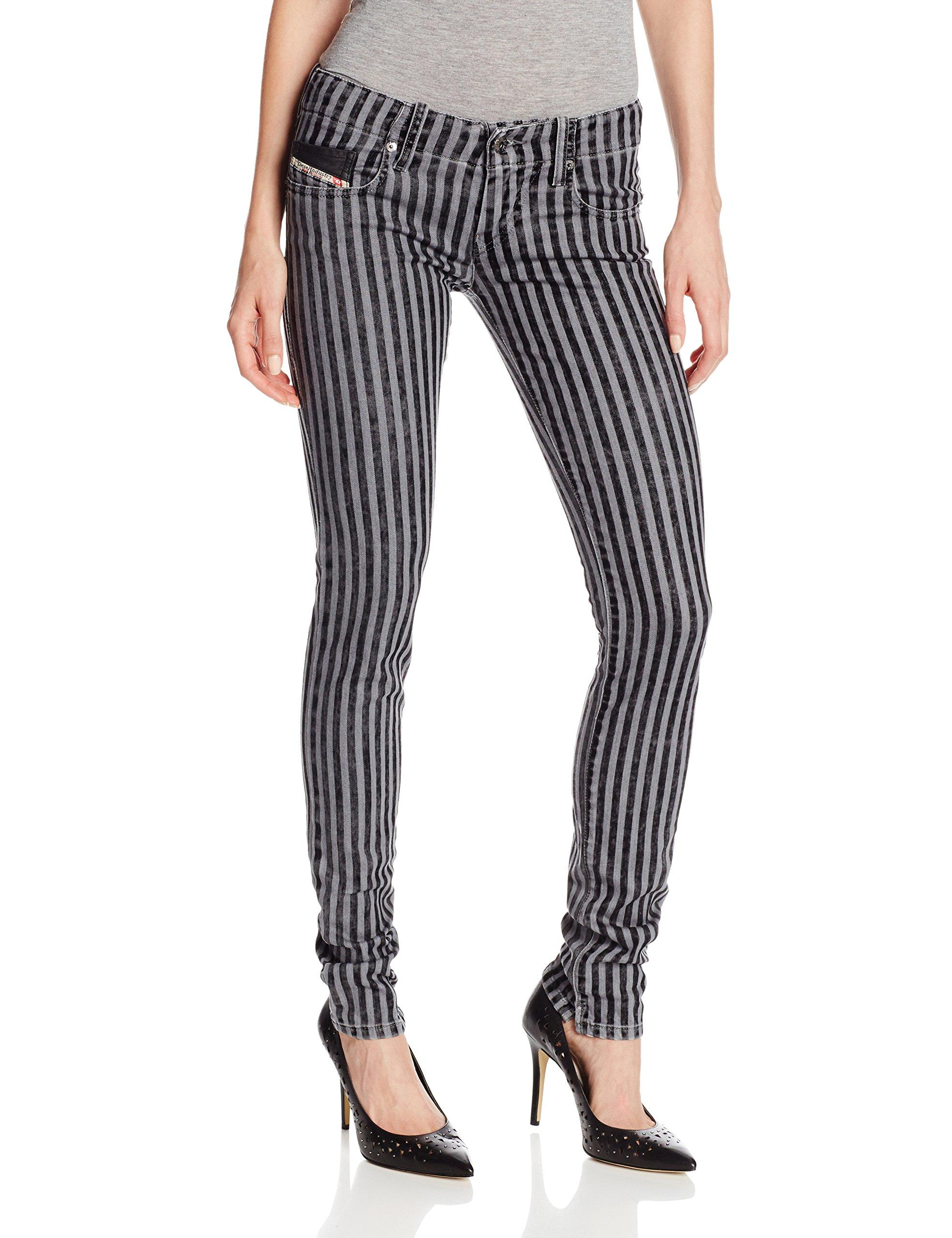 Diesel Women's Grupee Jean In Stripe Print, Stripe, 27x32