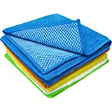 S&T INC. 539101 Microfiber Dish Cloth for Washing Dishes, Dish Rags for Kitchen Cleaning With Poly Scour Scrubbing Side…
