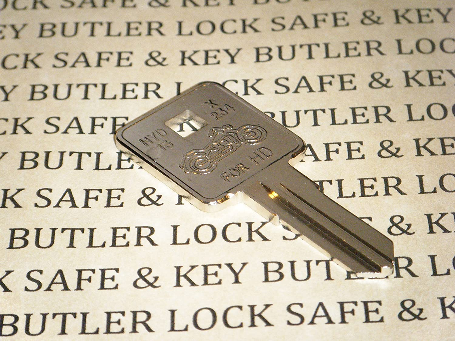 2pcs Motorcycle Ignition Key Blank Fit For Harley-Davidson Sportster 1200