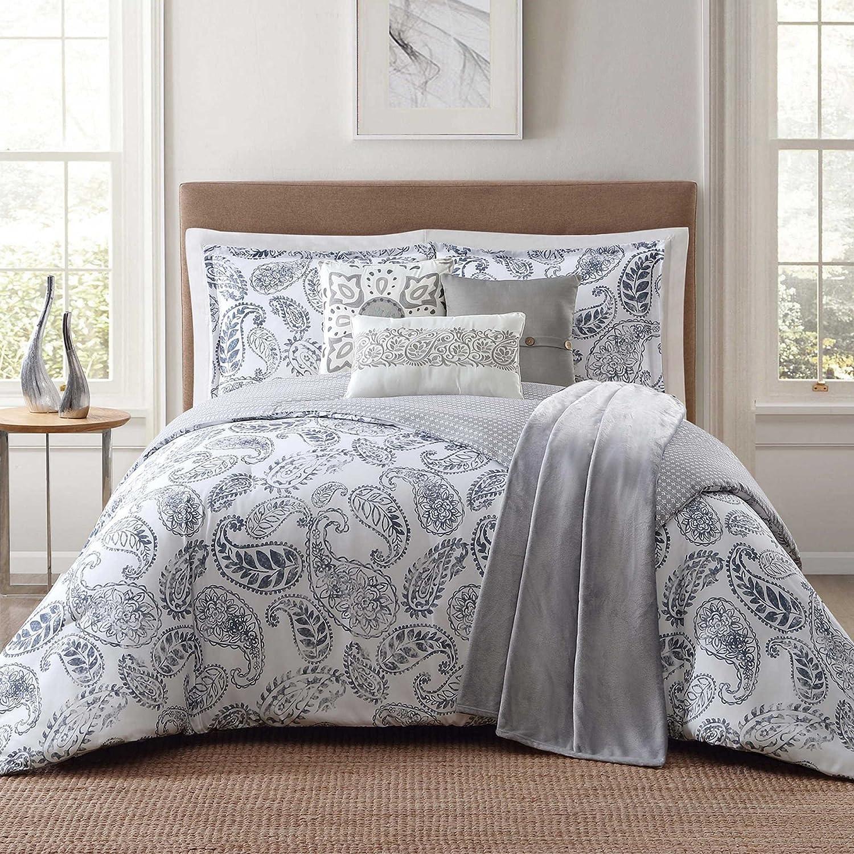 Jennifer Adams Home CS2134FQ7-1300 7 Piece Comforter Set Full//Queen Brooktree