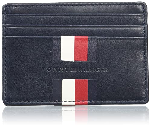 Tommy Hilfiger - Icons Stripe Cc Holder, Carteras Hombre, Bleu (Tommy Navy), 0.5x7x10 cm (W x HL)