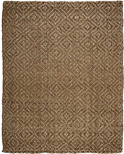 Anji Mountain Perfect Diamond Jute Area Rug, 5 x 8-Feet, Natural
