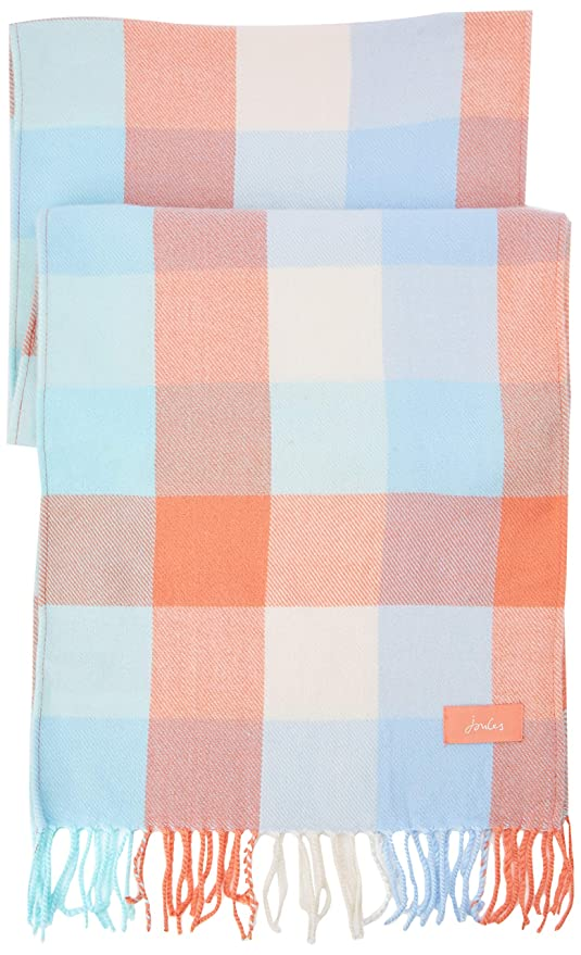 74b949ec Joules Women's Bracken Scarf, Orange (Orange Check Orngchk), One Size  (Manufacturer Size: One): Amazon.co.uk: Clothing