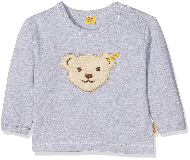 Steiff Baby-Jungen Sweatshirt Grau (Softgrey Melange 8200) 56 6712893