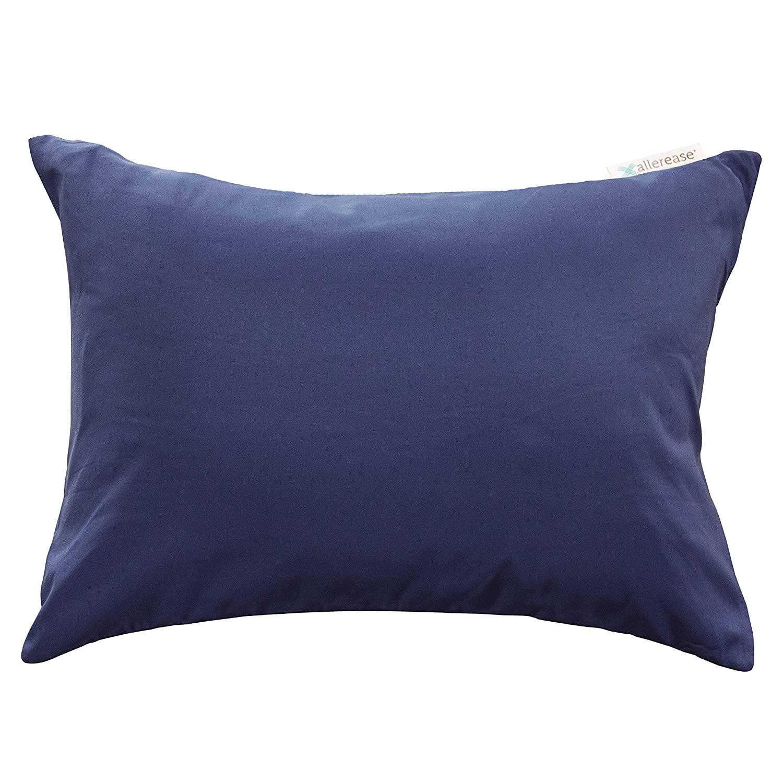"Aller-Ease Zippered Allergy Pillow Protector, Travel 14"" x 20"", Black Travel 14"" x 20"" American Textile Company 43930AMZ"