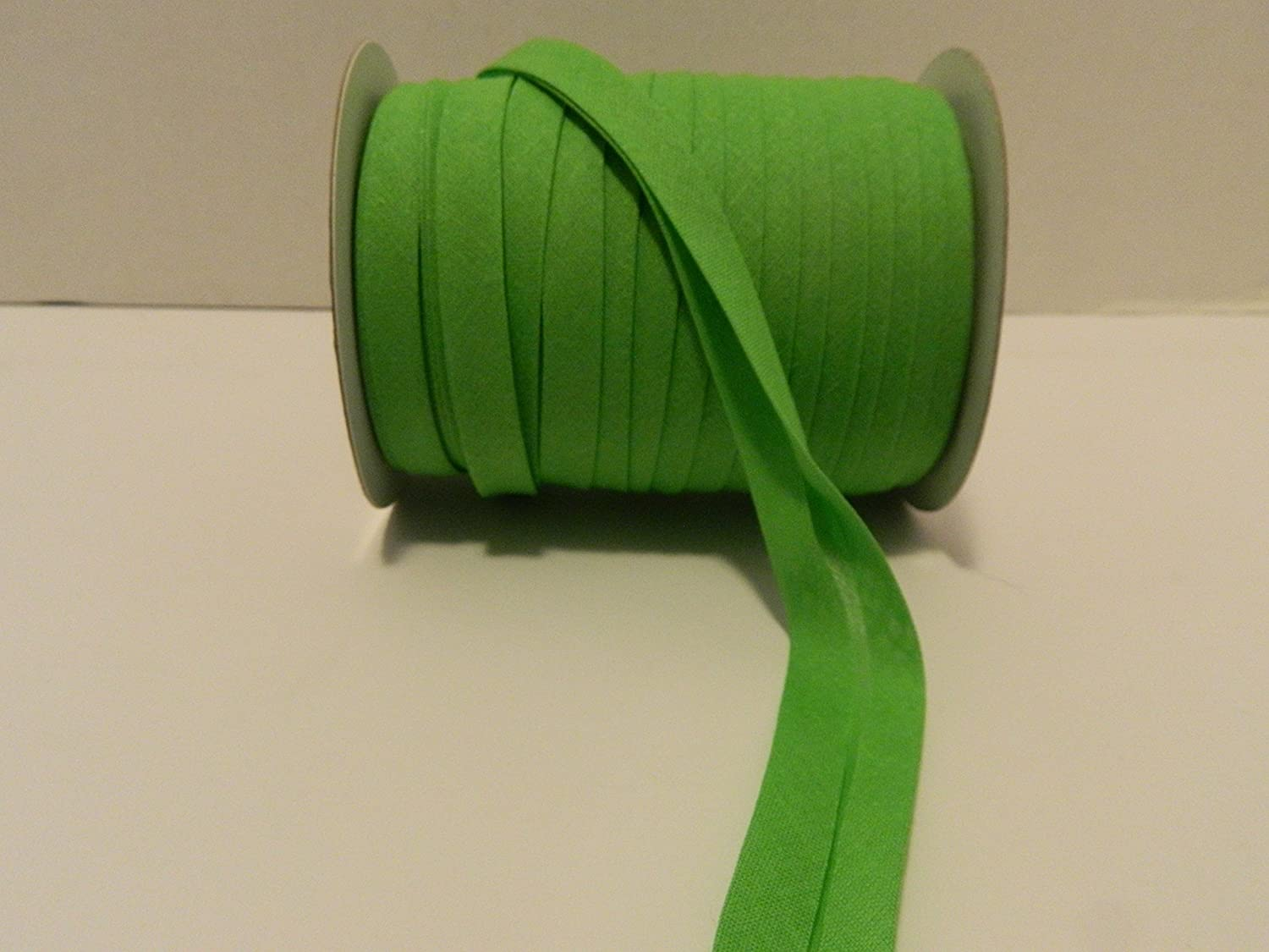Choose Color APPLE GREEN - MJs Crafts /& More Double Fold Bias Tape 1//2 Inch wide X 50 YARDS -