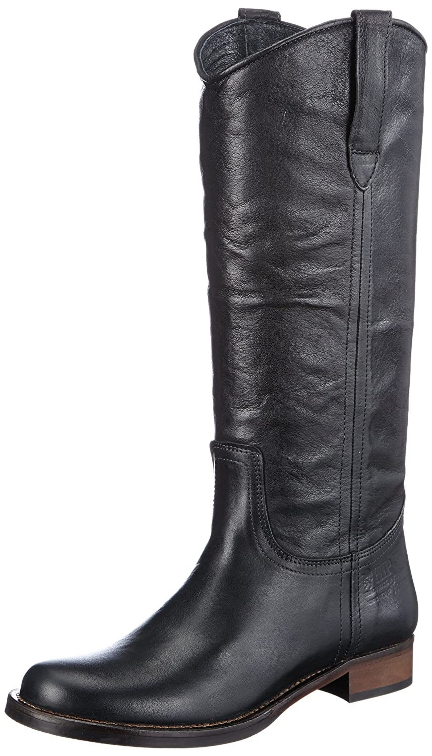 HIP Damen D1810 Black Leather Stiefel & Stiefeletten