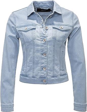 Vero Moda Vmhot SOYA LS Denim Jacket Mix Noos Chaqueta para Mujer: Amazon.es: Ropa y accesorios