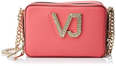 25416d4cda Image Unavailable. Image not available for. Color  Versace EE1VRBBC2 Coral  Shoulder Bag ...