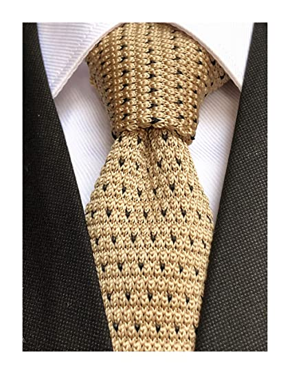 7353e0f7b845 Mens Champagne Knit Ties Vintage Woven Casual 2 quot  Handmade Winter  Wedding Best Nice Necktie for