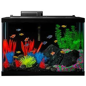 GloFish Aquarium Kit Fish Tank with LED Lighting