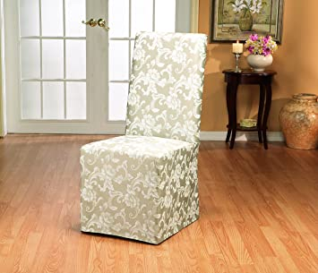 Amazon.com: Sure Fit Scroll   Dining Room Chair Slipcover   Champagne  (SF35461): Kitchen U0026 Dining