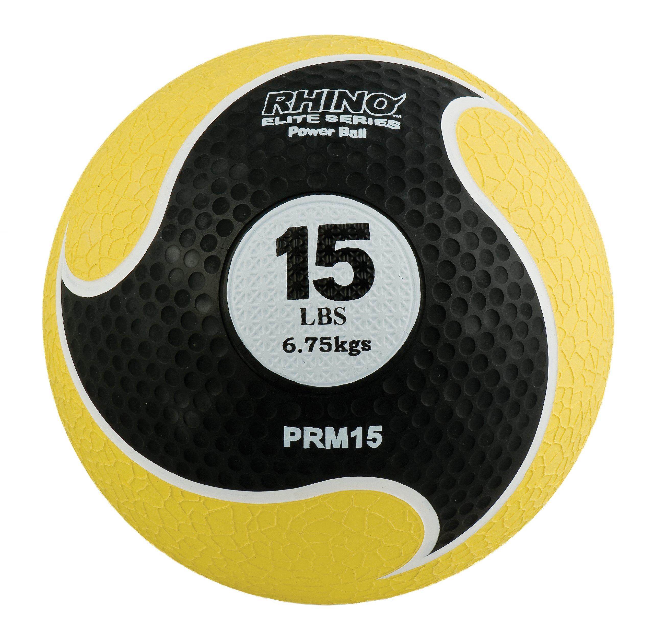 Champion Sports Rhino Elite Medicine Ball (15 pounds), Yellow
