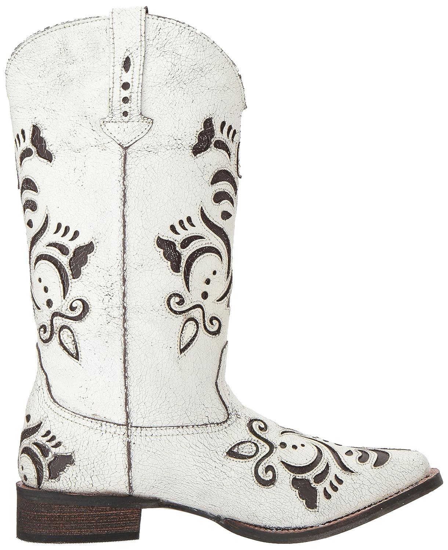 Roper Women's Belle Western Boot B06X9PNW17 8.5 B(M) US|White