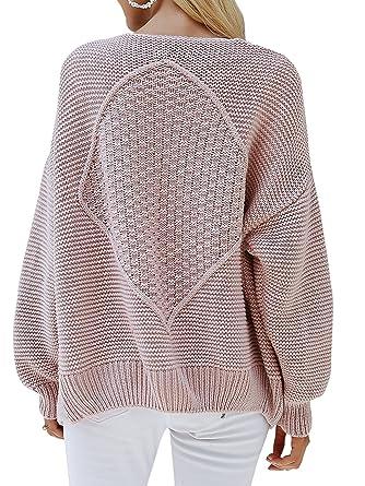 2571902bf052bd Annybar Damen Herbst Kurz Strickjacke Elegant Langarm Business Cardigan  Outwear Rosa: Amazon.co.uk: Clothing