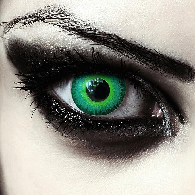 17 opinioni per Verde elfo lenti a contatto colorate verdi intenso per cosplay larp halloween