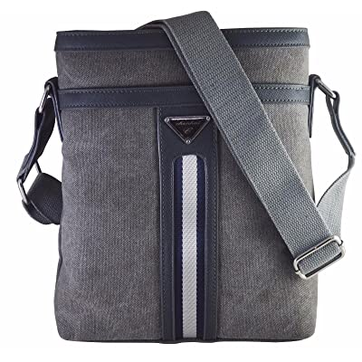 """Skoot wax coated cotton canvas messenger Bag for Ipad/Tablet Upto 10"""" for office and Casual use (Grey)"""