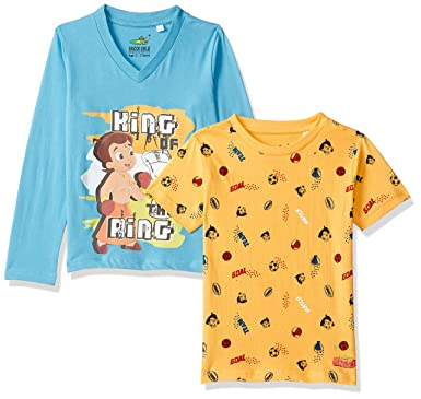 2d7836c32 Chhota Bheem Boy's T-Shirt: Amazon.in: Clothing & Accessories