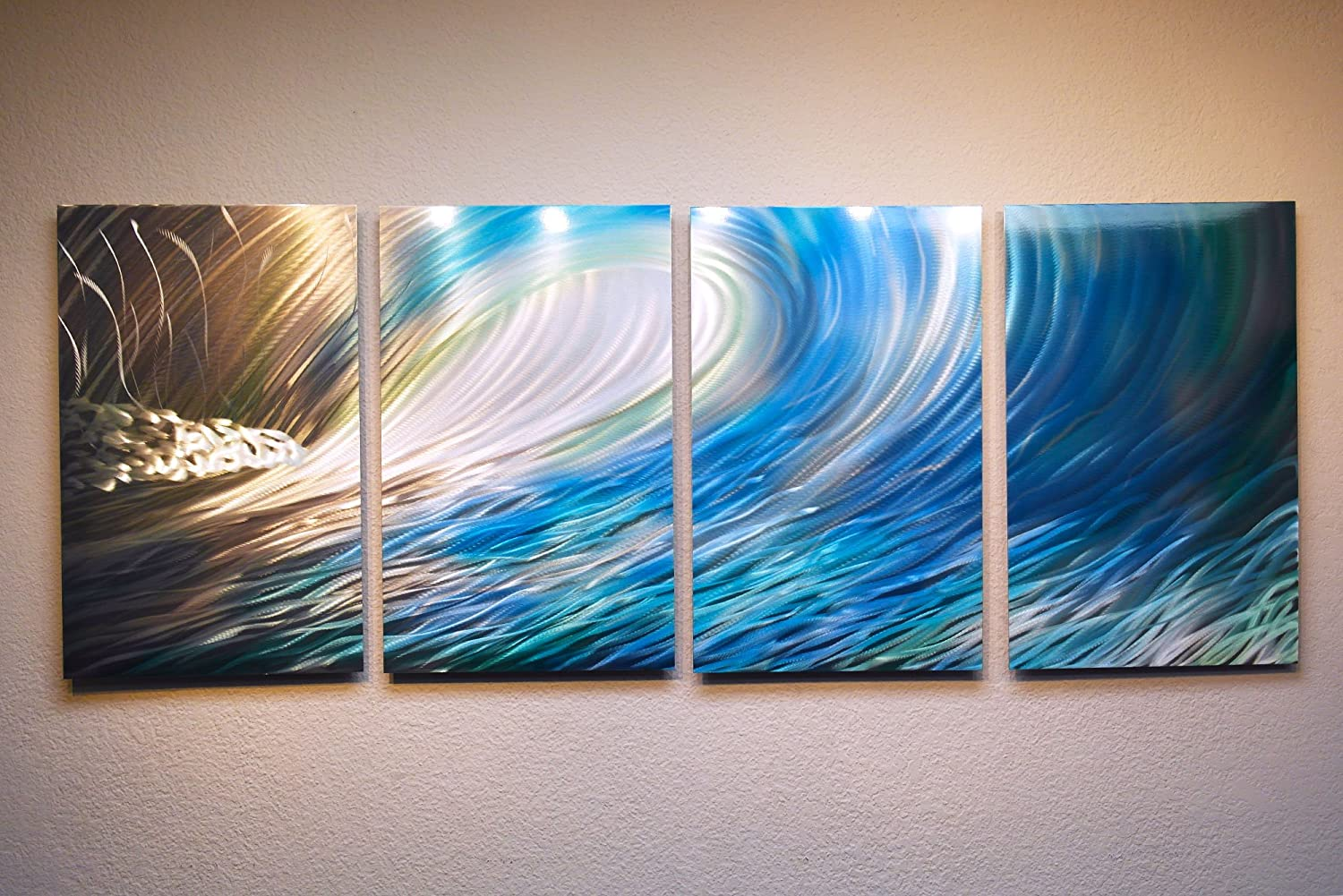 Amazon com miles shay wave by metal wall art modern home decor abstract artwork sculpture home kitchen