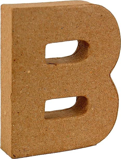 Country Love Crafts 4-inch// 10cm 3D Letter U Papier Mache