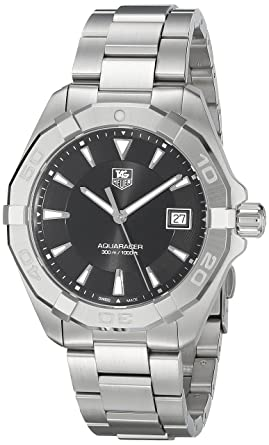 7b3fe582553 Image Unavailable. Image not available for. Color: TAG Heuer Men's ' Aquaracer' Quartz Stainless Steel ...
