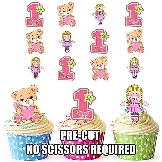 Precortado primer bebé niñas cumpleaños - Decoración ...