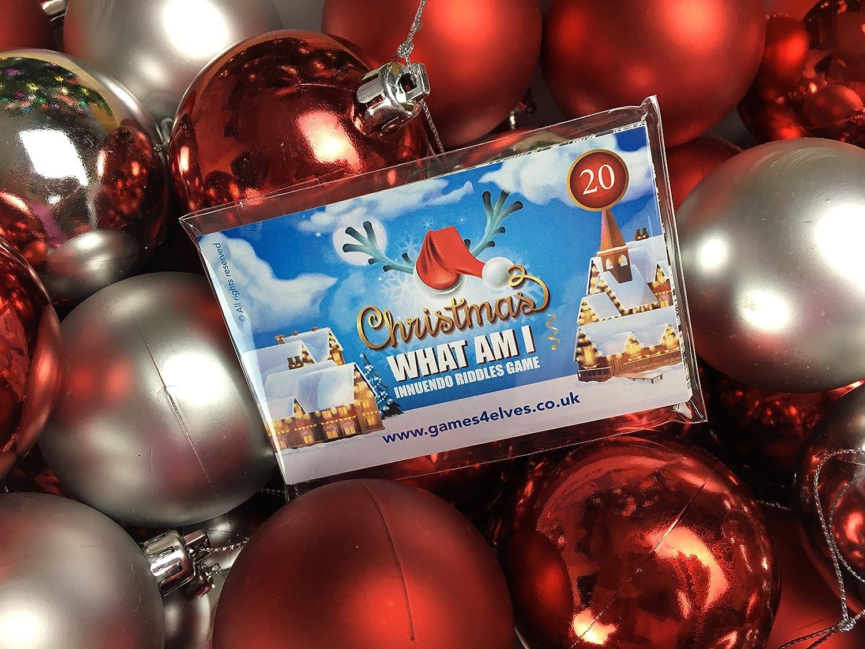 Spielkarten mit lustigen Zungenbrechern für Weihnachten, ein ...