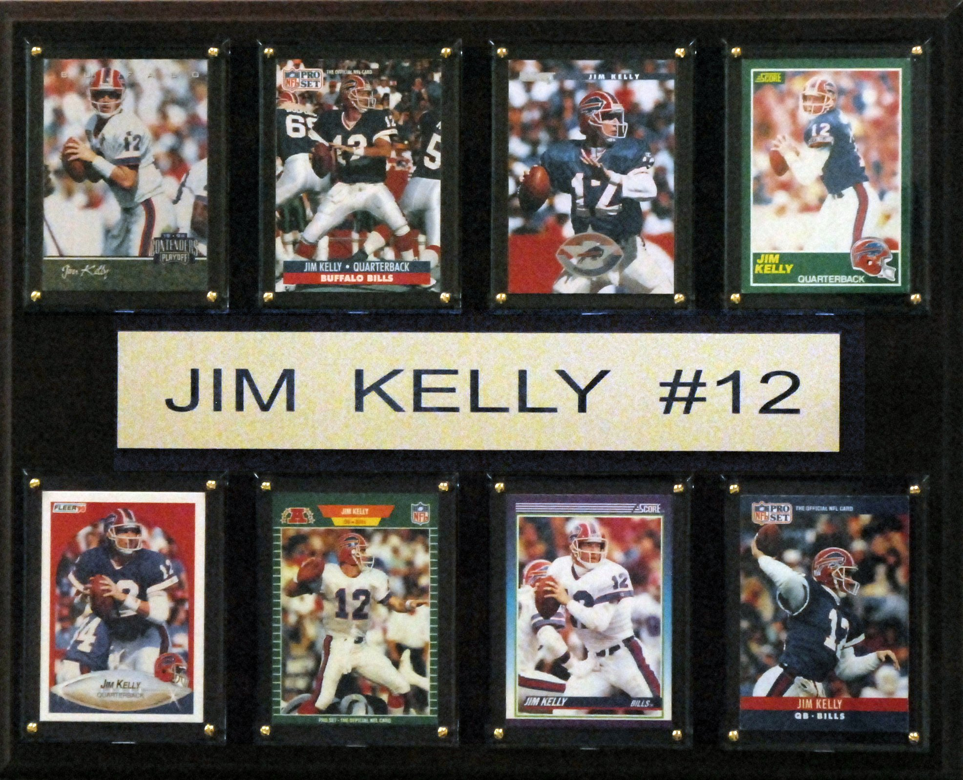 NFL Buffalo Bills Jim Kelly Plaque (8-Card), 12 x 15-Inch by C&I Collectables