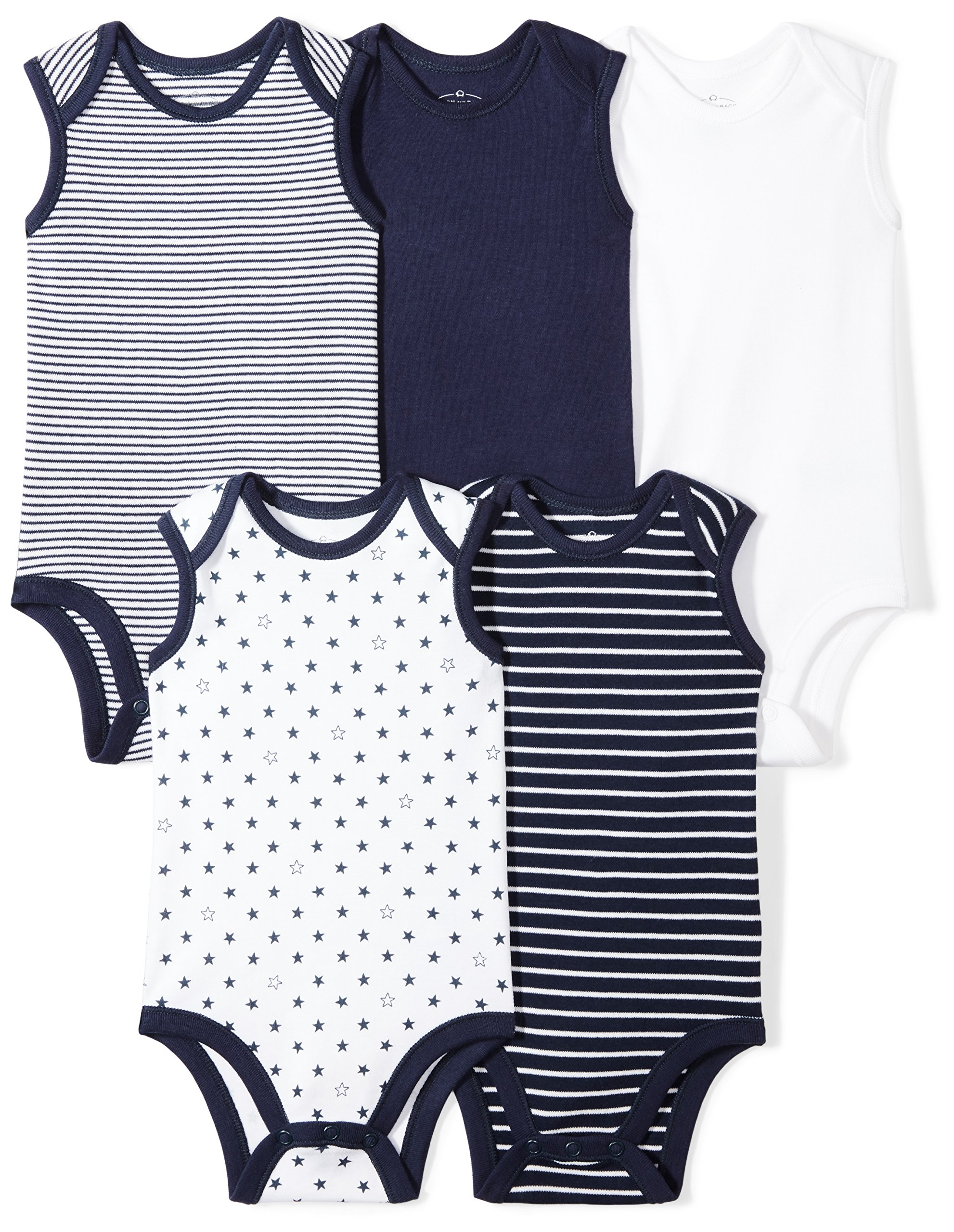 Moon and Back Baby Set of 5 Organic Sleeveless