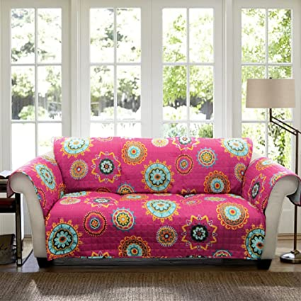 Amazon.com: Lush Decor Adrianne Slipcover/Furniture Protector for ...