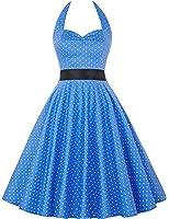 GRACE KARIN® Donne 1950 Vintage con allacciatura al collo di Polka Dots Casual Cocktail Vestito