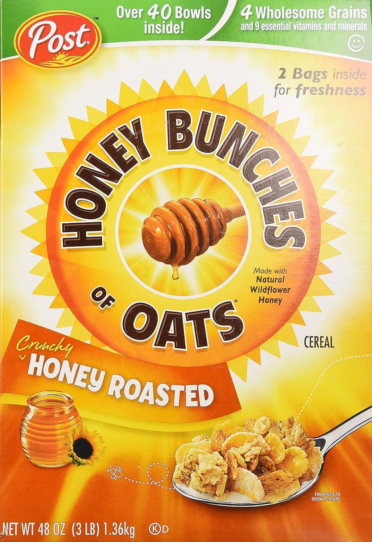 Cereal-Honey Bunches of Oats Cruncy Honey Roasted, 48-Ounce Box (Pack of 2-24oz ea.): Amazon.es: Alimentación y bebidas