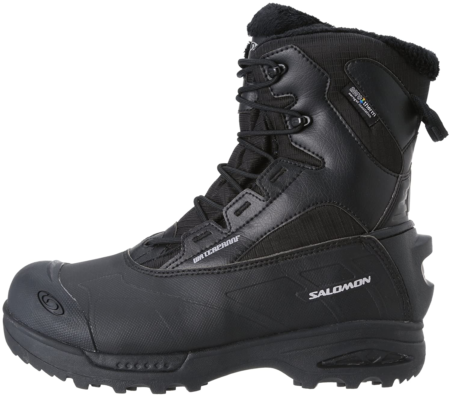 Details about Salomon Toundra Mid WP Black Lace Up Insulated Waterproof Snow Boots 10