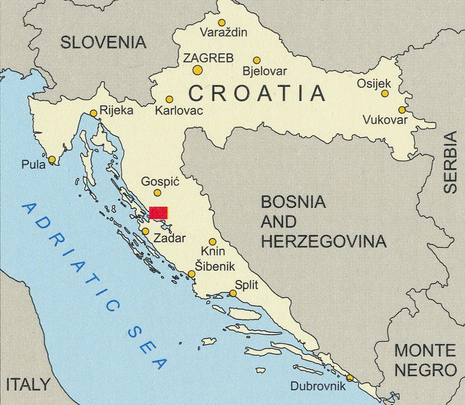 Paklenica Np Croatia 1 25 000 Hiking Map Cmrs 9789789537525