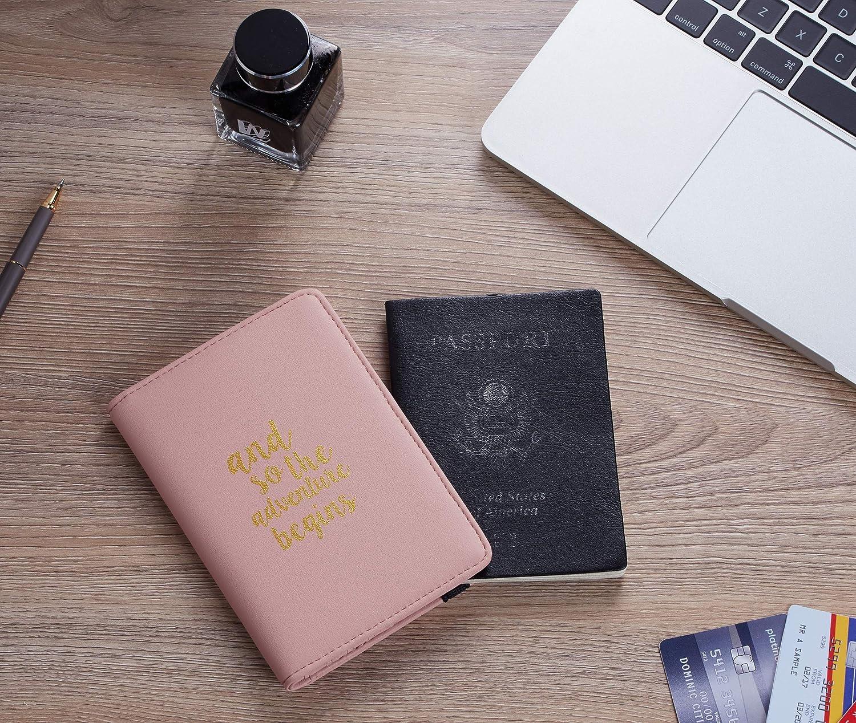 Casmonal Passport Holder Cover Wallet RFID Blocking Leather Card Case Travel Document Organizer