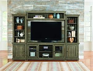 Progressive Furniture Willow Entertaintment Console, Grey