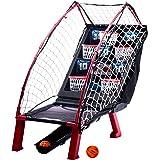 Franklin Sports Anywhere Basketball Arcade Game - Table Top Basketball Arcade Shootout- Indoor Electronic Basketball Game for