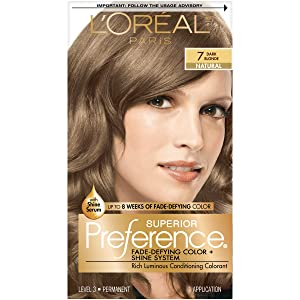 L'Oreal Paris Superior Preference Fade-Defying Color + Shine System, 7 Dark Blonde (Packaging May Vary), 1 Count (Pack of 1)
