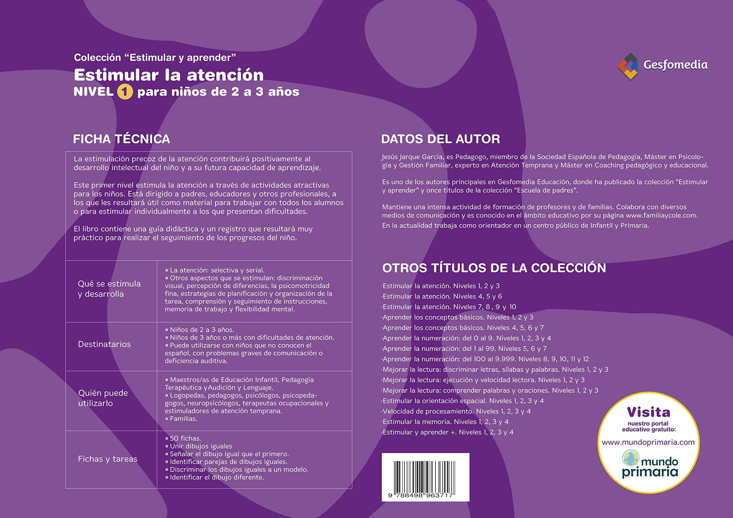 Para Niños De 2 A 4 Años - Edición Color Estimular Y Aprender: Amazon.es: Jesús Jarque García: Libros