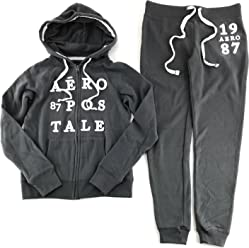 Aeropostale Womens Hoodie and Sweat Pants Set