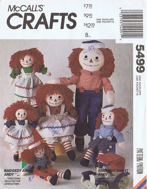 amazon com raggedy ann u0026 andy doll patterns mccall u0027s 8377 5499