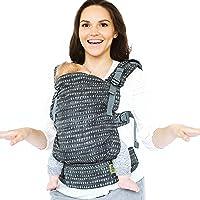 Boba X Bärsele – anpassningsbar, mjuk strukturerad ryggsäck för spädbarn 3,2–20,4 kg (denim regn)